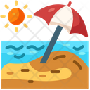 Parasol Summer Beach Icon