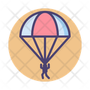 Paratrooper Parachute Sky Diving Icon