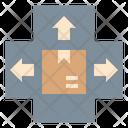 Parcel Sorting Hub Icon