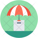 Parcel Insurance Umbrella Icon