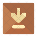 Arrow Down Box Icon
