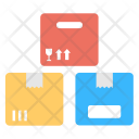Colorful Cardboard Boxes Icon