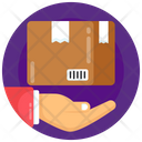 Parcel Care Package Handling Courier Service Icon