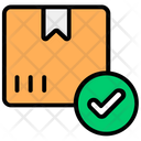 Parcel Check Verified Cardboard Delivery Packaging Icon