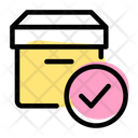 Parcel Check Verified Parcel Delivery Packaging Icon