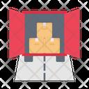 Container Warehouse Logistics Icon