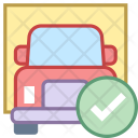 Delivered Cargo Shipping Icon