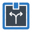 Parcel Delivery Direction Icon
