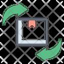 Parcel Exchange Parcel Transfer Parcel Delivery Icon