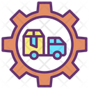 Export Company Parcel Export Company Delivery Truck Icon