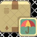 Umbrella Parcel Insurance Insured Courier Icon