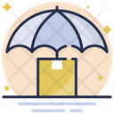 Parcel Insurance Umbrella Package Icon