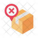 Location Parcel Cancel Icon
