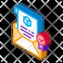 Parcel Notification Letter Icon