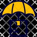 Umbrella Box Logistics Icon