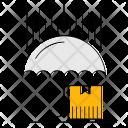 Umbrella Logistics Transport Icon