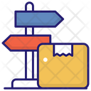 Parcel Signboard Icon
