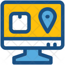 Online Map Parcel Icon