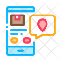 Parcel Location Phone Icon