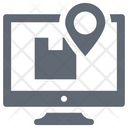 Online Navigation Parcel Tracking Monitor Icon