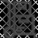 Parcel Dolley Courier Parcel Icon