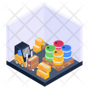 Stockroom Parcels Lifter Storage Room Icon