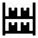 Stock Parcels Rack Packages Icon