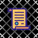 Judgement Parchment Scroll Icon