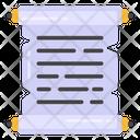 Roll Paper Parchment Manuscript Icon
