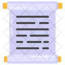 Roll Document Roll Paper Parchment Icon