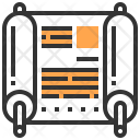 Parchment Scroll Writing Icon