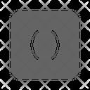 Parentheses Math Algebra Icon