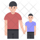 Father And Child Fatherhood Single Parent Icon