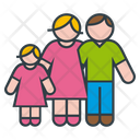 Parents And Daughter Icon