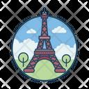 Paris Famous Building Landmark Icon