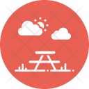 Park Bench Table Icon