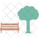 Bench Park Tree Icon