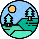 Park Mountain Forest Icon