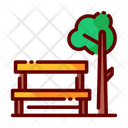 Park Garden Sitting Bench Icon