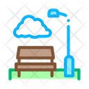 Park Benches Landscape Icon