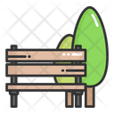 Park Tree Bench Icon
