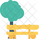 Park Bench Tree Icon