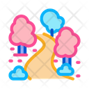 Park Alley Trees Icon