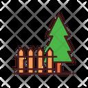 Park fence Icon