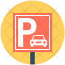 Parking Signboard Sign Icon