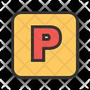 Parking Sign Symbol Icon
