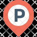 Parking Map Pin Icon