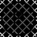 Parking Paste Alphabet Icon