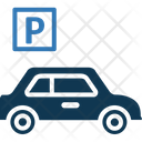 Taxi With Parking Parking Taxi Icon