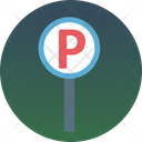 Parking Car Parking P Sign Icon